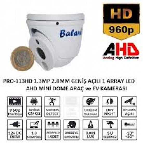 Hd Mini Dome Kamera